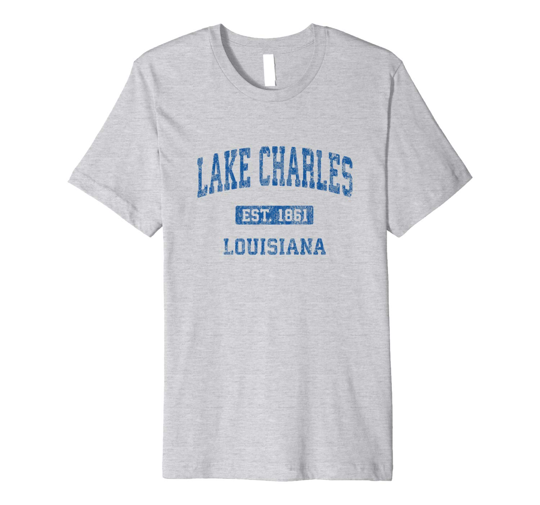 Lake Charles Louisiana La Vintage Athletic Sports Design Shirts