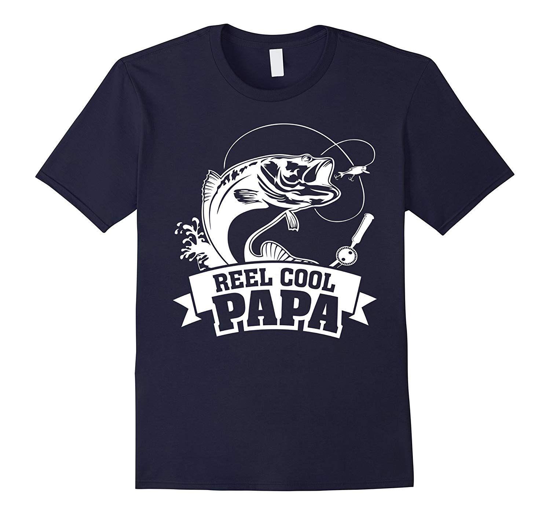 S Reel Cool Papa Fishing Grandpa Fathers Day Gift T Shirt